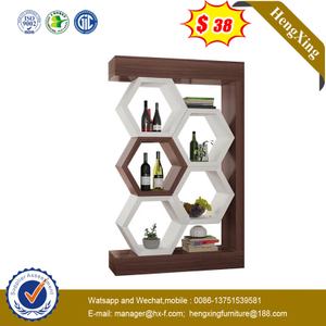 Assembled Shelf Solid Wood Decorative Brown Bedroom Living Room Display Cabinet