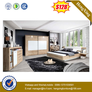 Hot Sell Wooden Home Bedroom Furniture Set Comfortable Backrest Bed For Living Room