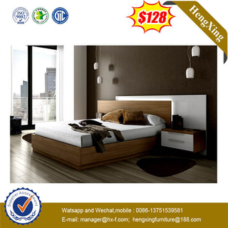 Solid Walnut Wooden Bed For Home Hotel Bedroom Furniture Set
