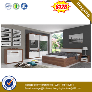 Modern King Size Bed Wooden Home Hotel Bedroom Furniture