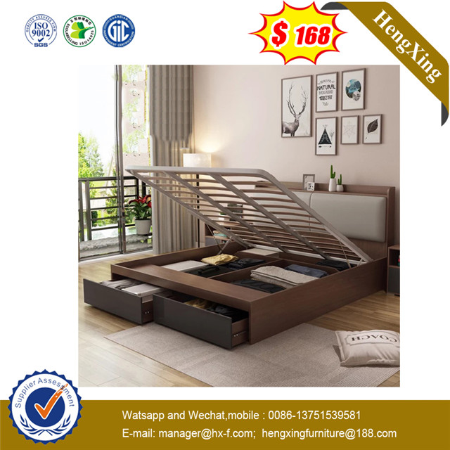 Foshan Enviroment Friendly Melamine Gas Lift Bed Queen Bed