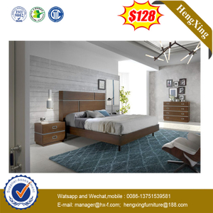 Competitive Price Queen Size Wooden Home Hotel Bedroom Set