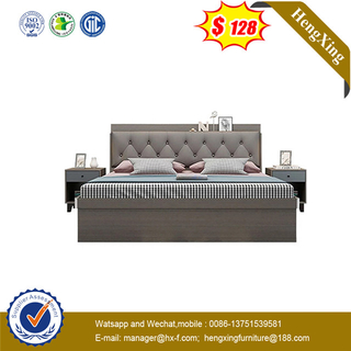 2020 Design customerized size Durable wooden hotel king bed