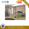 Chinese Wooden Double Queen Bed Modern Bedroom Furniture