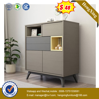 2 Doors 2 Drawers Double Color with Legs Sideboard Cabinet for Dinner