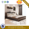 Modern Simple Bed Home Hotel Bedroom Furniture Set Double Bed with Wood Leg