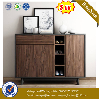 Shoe Cabinet Wood Storage Shelves Rack Living Room Furniture