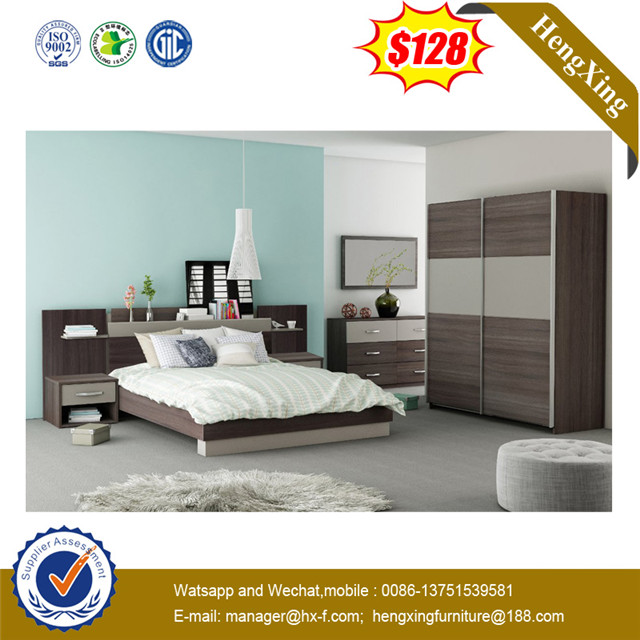 New Design Bedroom Living Room Furniture Wooden Double King Bed