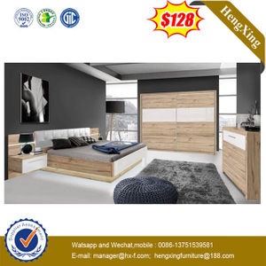 Modern Simple Home Hotel Bedroom Furniture Set Sofa Double Backrest Bed