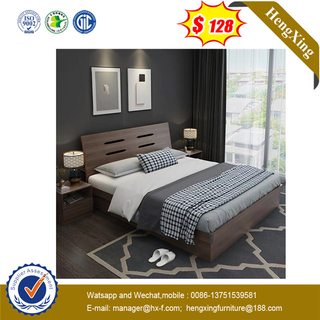 Lecong No Harm for Health Latest Design Beech Shining King Size Bed