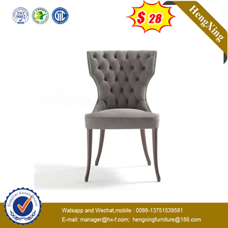 High Quality Velvet with Metal Legs hotel furniture Dining Chair
