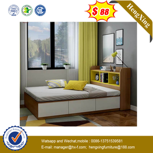 Large Space Storage Home Bedroom Furniture Wooden Melamine Panel MFC Drawer Bed