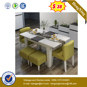 Factory Modern Home Furnitures Wooden Tables Dining Table with Chairs