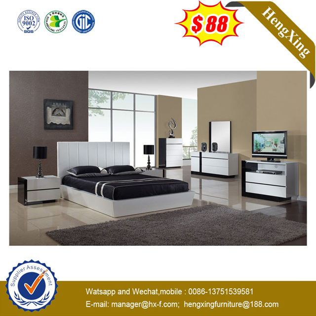 Luxury Simple Solid Wood Double Bed bedroom hotel furniture