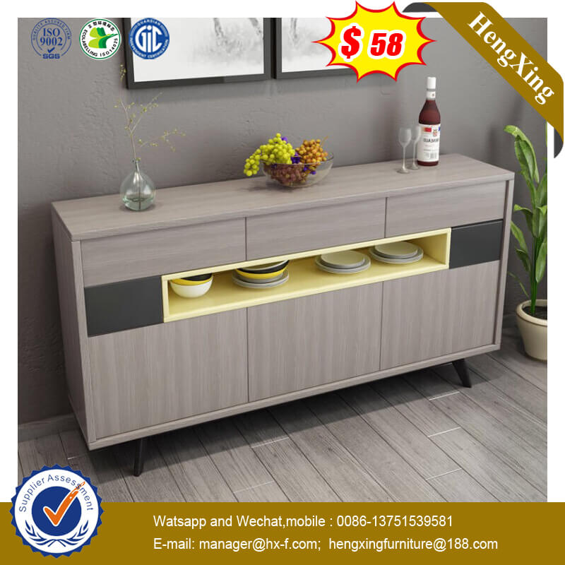 Double Color Side Cabinet Multifunctional Storage Living Room Furniture