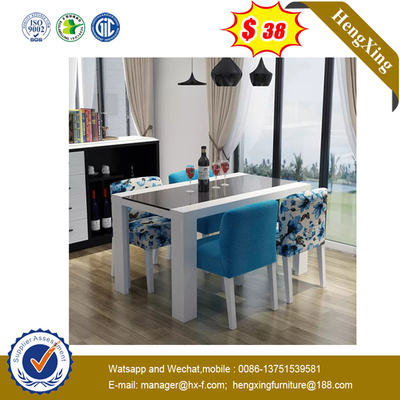 Wooden Office Furniture Melamine Board White Round Dining Table