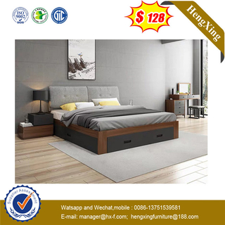 Classic Home Furniture Solid Wood Walnut Hotel Queen Bed