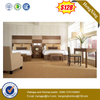 Wholesale 5 Stars Hotel Bedroom Furniture Single Double King Wooden Headboard Bed