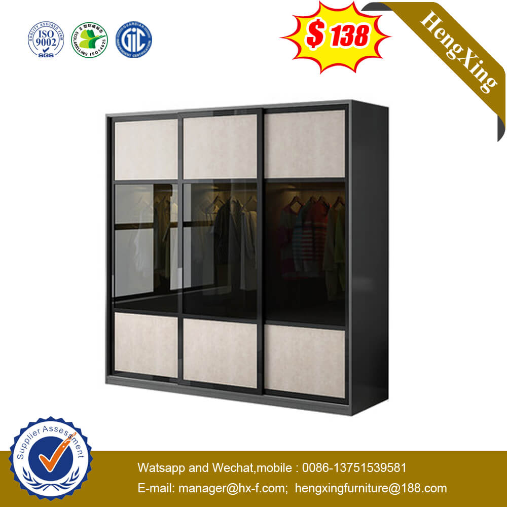Affordable Price High-End High Glass Sliding Doors Modern Design Wall Home Hotel Bedroom Furniture Set Wardrobe