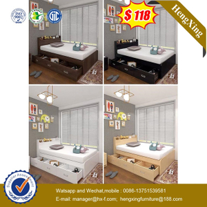 Chinese Factory Furniture Bedroom Set Children Wood Color Frame Single Bed