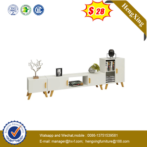 Modern Living Room Furniture MDF White Wooden Coffee Table TV stand cabinet