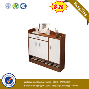 Modern Wood Melamine Shoe Storage Cabinet Living Room Shoes Rack with A Side Tall Door
