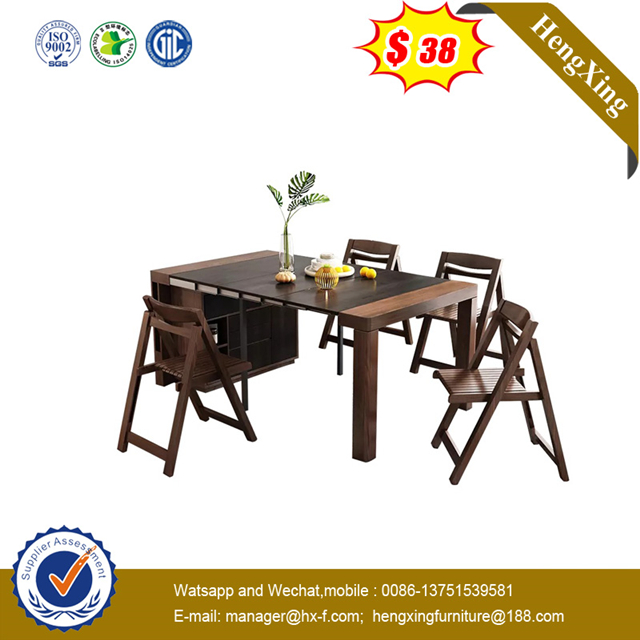 Wooden Top Metal Leg Outdoor Living Room Restaurant Furniture folding Sofa Set Outdoor Dining Chair Table
