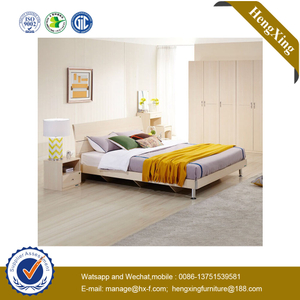 Modern Wholesale Home Queen Size Wooden Hotel Furniture Sets Bedroom Bed