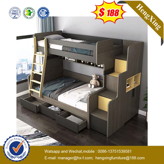 Wholesale Modern Wooden Bedroom Set Living Room Furniture Children Wood Single Double King Queen Size Bunk Kids Beds