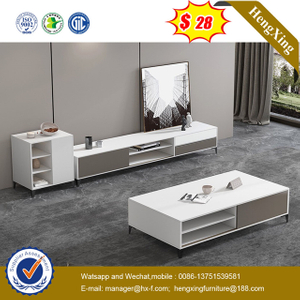 Glossy MDF Storage Notch Modern Furniture TV Stands side cabinets end coffee tables