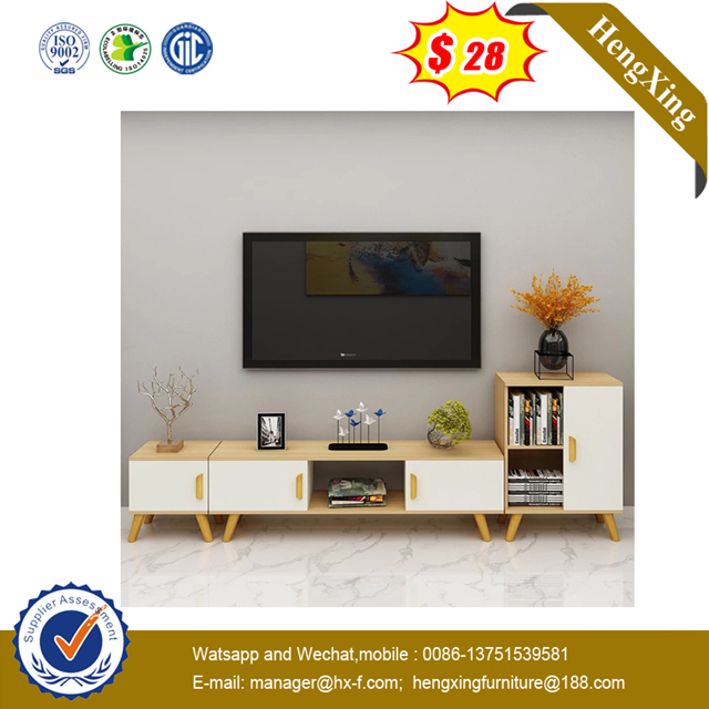 Cheap price Wooden Top Living Room furniture set TV Unit cabinet Wood Coffee Table