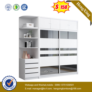 New Design Hotel Project Home Living Room Bedroom Modern set glass mirror door closet cabinets Wardrobe