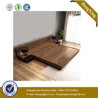 Factory Price Hotel Bed Wooden Hotel Home Furniture Set Wall Sofa Double King Bedroom Bed
