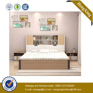 Modern Wooden Storage Wardrobe Home Bedroom Set Furniture Hotel King Double Single Bedroom Bed