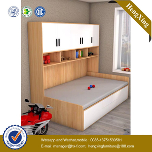 Modern Home School Children baby Furniture Bookcase Bunk Wooden Single Double Dormitory Kids Bed