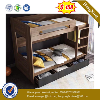 Modern Wooden Metal School Dormitory Baby Furniture Bedroom Set Double Bunk Children Kids Bed