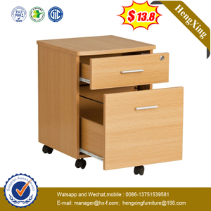High Quality Office Storage Cabinet Movable 3 Drawer Pedestal with Wheels