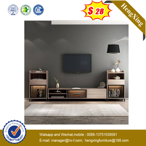 New Design Nordic Style Wooden TV Cabinet Home Furniture Coffee Tables Set