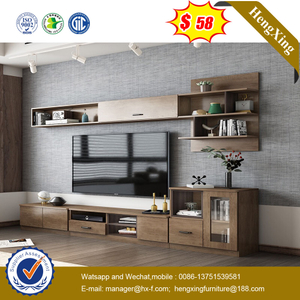 Modern Stylish TV Unit Stand Living Room Long TV Storage Cabinet with Wall Storage Cabinet