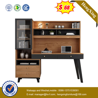 Modern Wooden Home Office Furniture School Standing book case cabinets Computer Table Living Room Study Desk