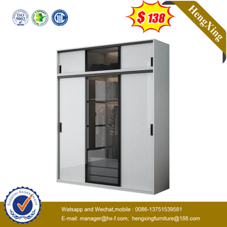 High Quality Bedroom Melamine Glass Door Wall Wardrobe Closet For Sale