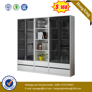 Nordic Wardrobe Bookshelf Combination Glass Door Bookcase Office Display Cabinet
