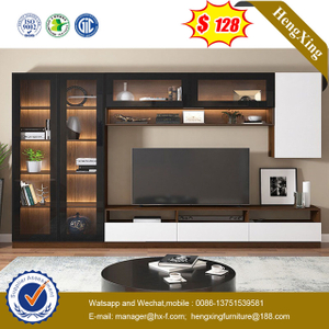 Modern Floating glass mirror door Wall Mounted Living Room TV Cabinet Designs Furniture TV Stands