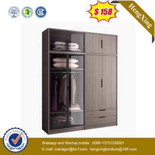 Hot Sell Living Cabinet Bedroom Furniture Wooden Almirah Designs With Glass Door