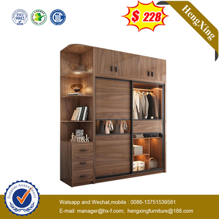 Modern Bedroom Home Hotel Furniture Fitted Wood MDF Cloth Sliding Door Foldable Closet Wooden Cabinet Wardrobe