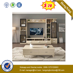 China Factory Melamine Wooden Modern TV Stand
