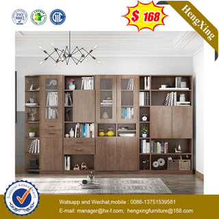 Simple Bookshelf with Big Storage Cabinet MDF Wood Bookcases Living Room Cabinets