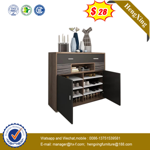 High Quality Classic Style Customized Color Wooden Shoe Storage Rack Cabinets
