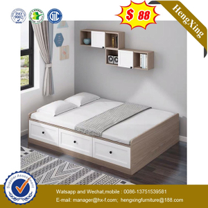 Chinese Modern Wooden School Dormitory Bedroom Furniture Set Double Kids Bunk Beds with drawer cabinets