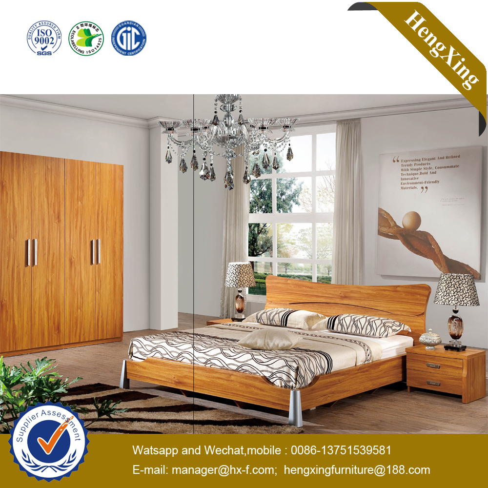 China Multifunction Storage Modern Simple Design Double Wood Furniture Bedroom Bed